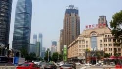 兴业银行南昌支行楼顶大型广告屏