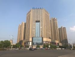 兴业银行九江支行楼顶大型广告屏